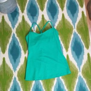 Lucy green strappy back athletic tank size medium